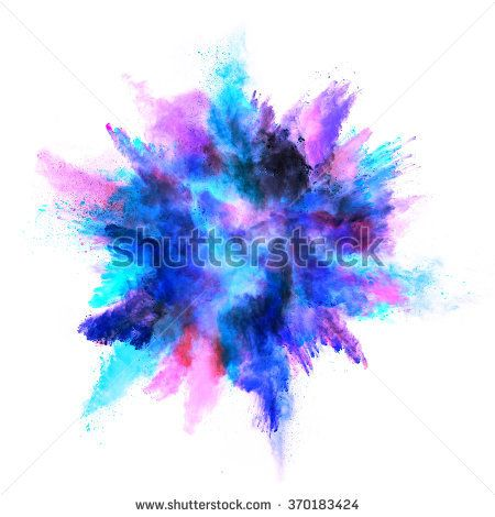 Explosion Of Colored Powder Isolated On White Background Watercolor Splash Png Watercolor Splash Color Splash Effect