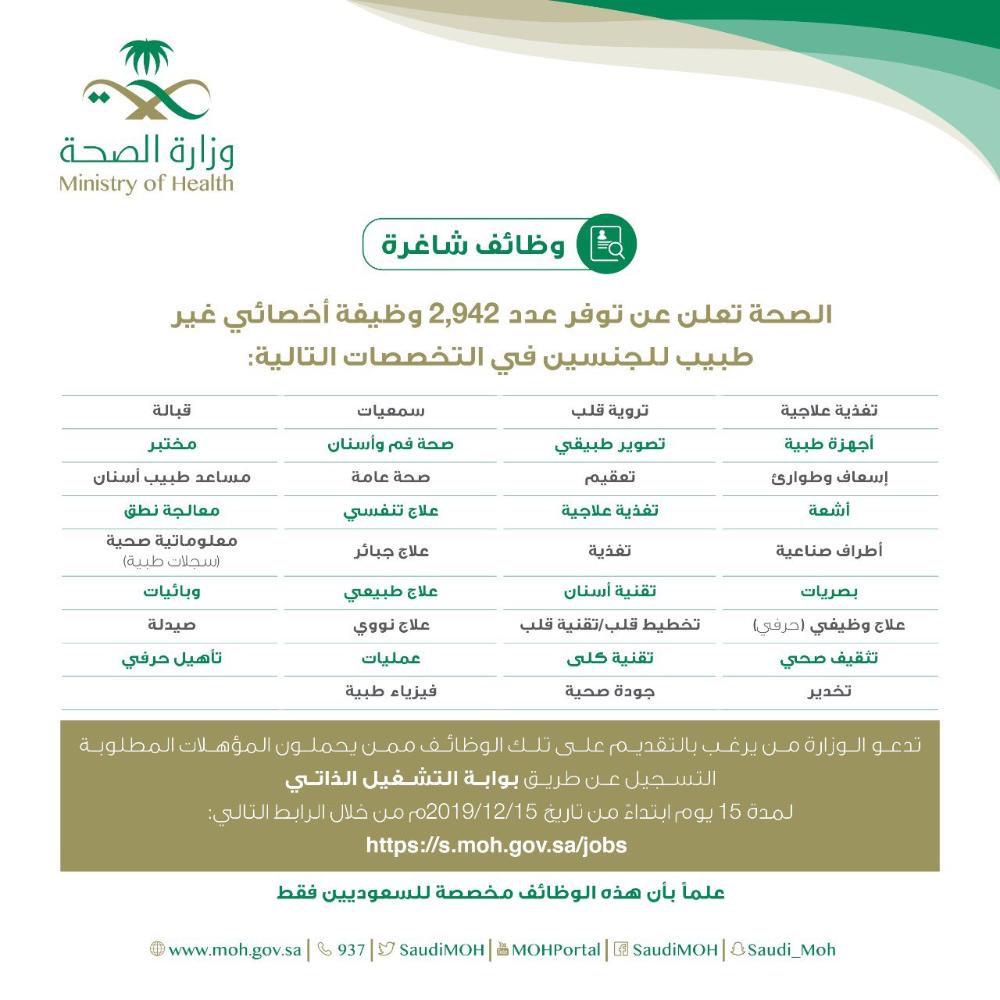أخبار السعودية On Twitter Health Ministry