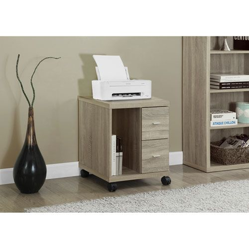 Natural Computer Stand On Castors Monarch Specialties Printer Utility Stands Computer Fu Printer Stand Office Cabinets Drawer Filing Cabinet