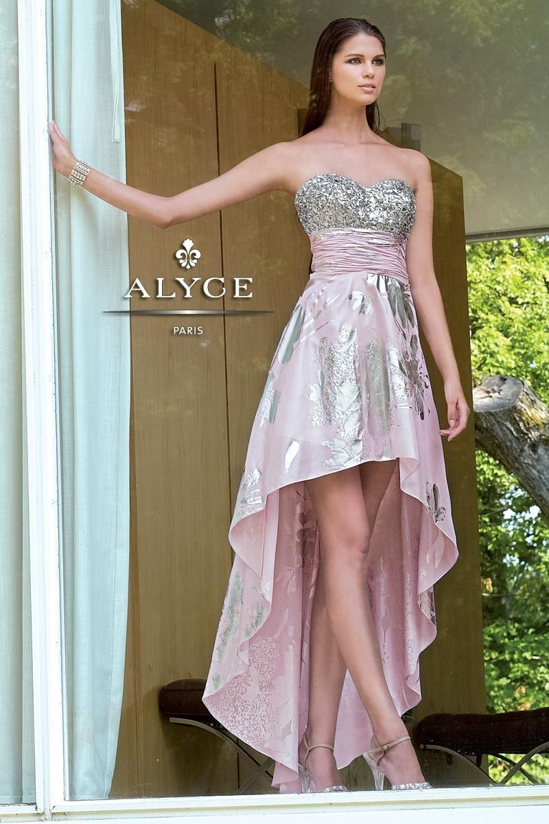 Pink and silver high low dress prom night pinterest high low
