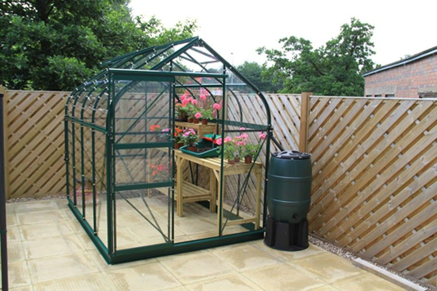 Exemple De Porte Coulissante Sur Une Petite Serre En Verre Serre Jardin Jardins Jardin Loisir