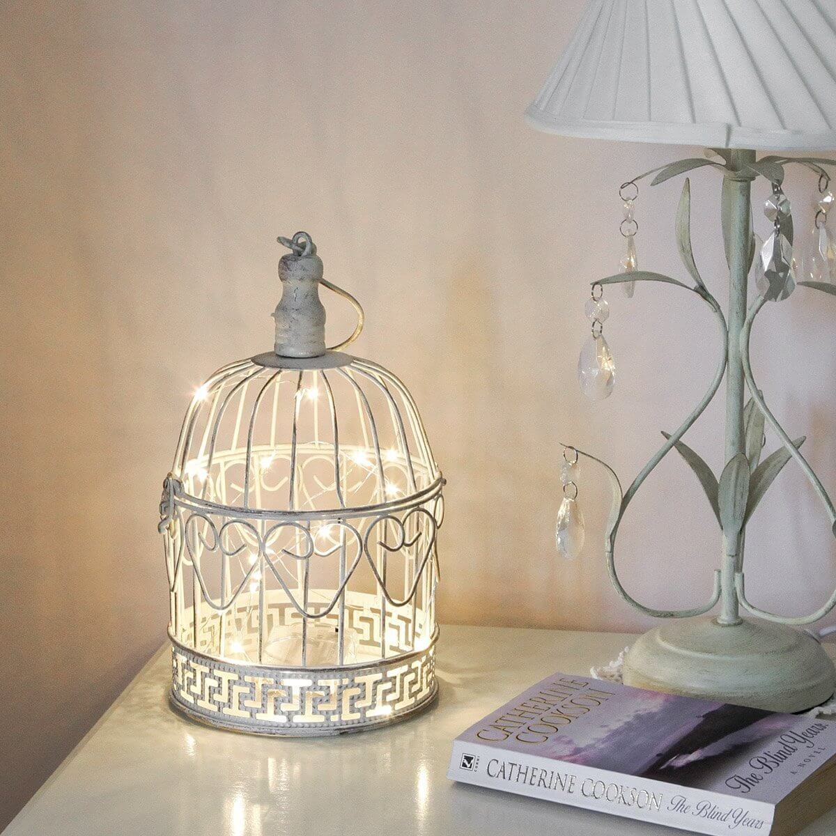 ve we diy sugar vintage birdcage cloth lamp