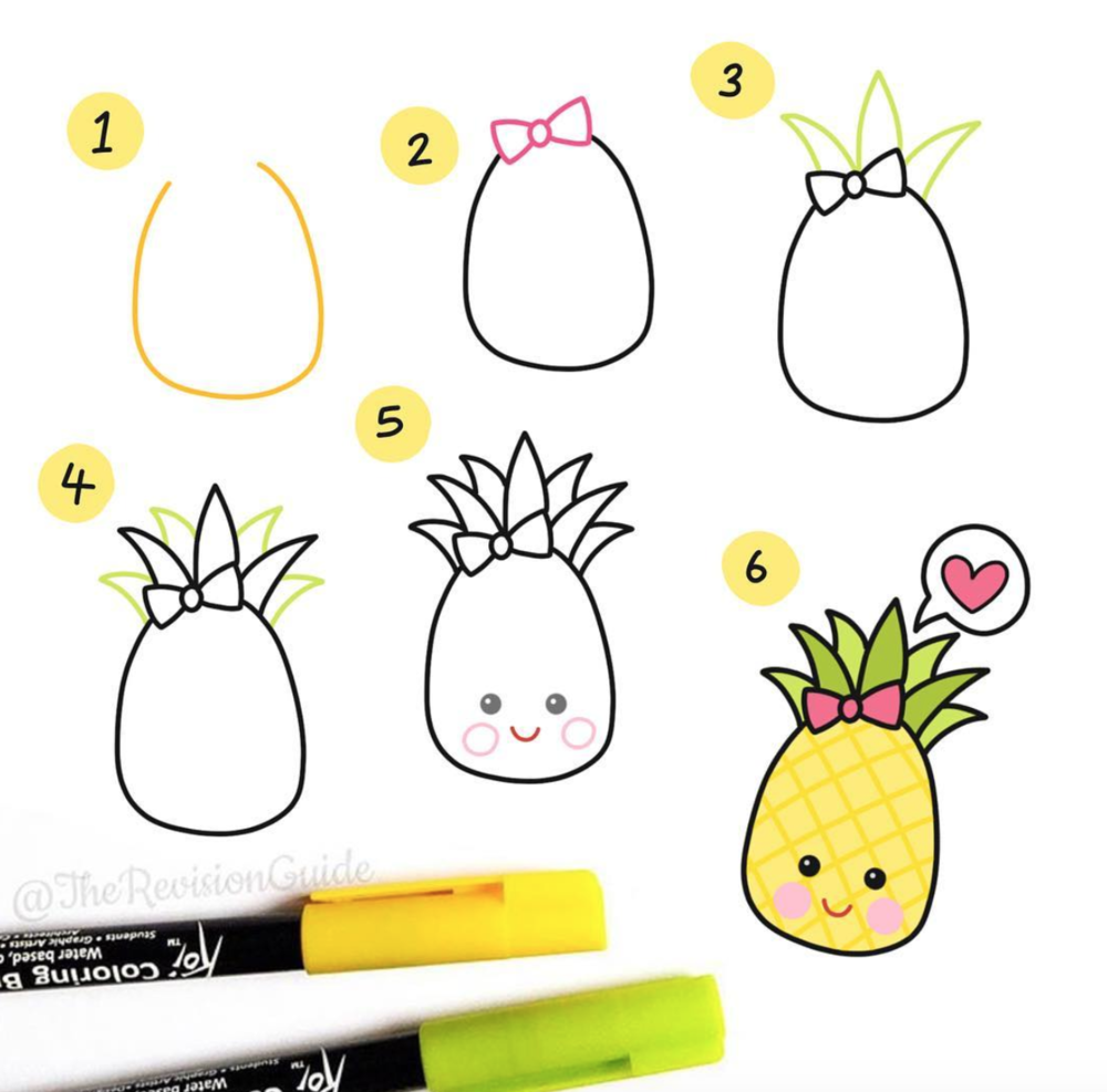 Cute Doodles Anyone Can Draw Perfect Pineapple Is An Easy To Make