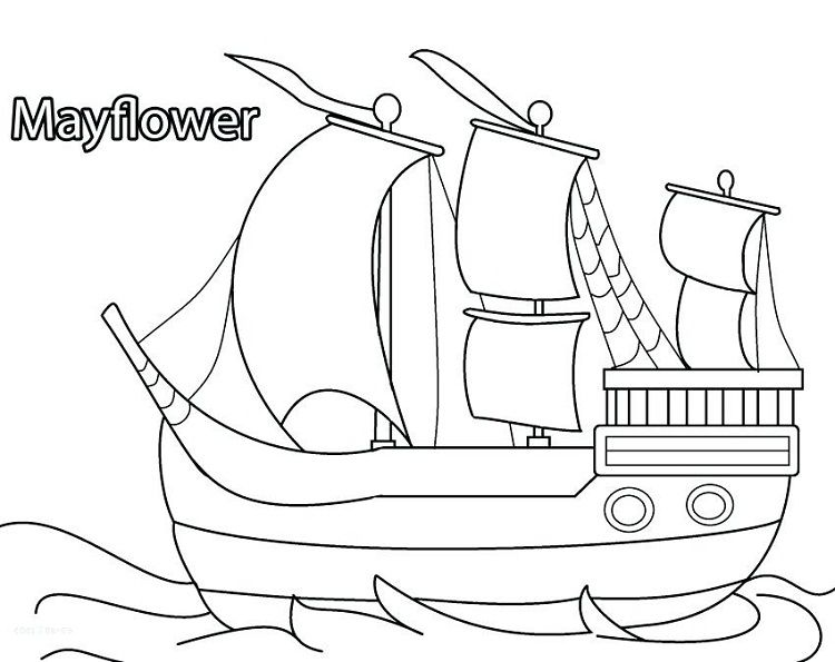 Mayflower Ship Coloring Pages Coloring Pages For Kids Mermaid