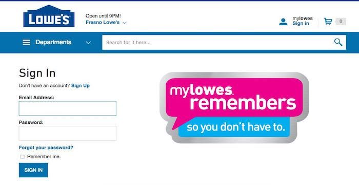 Lowes Login Lowes Com My Lowe S Account Online Remember