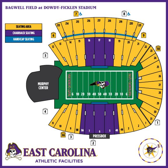 Seating Chart Dowdy Ficklen Stadium Football Designed In Illustrator Allowing Change To Col Football Ticket East Carolina Pirates Football Uconn Football