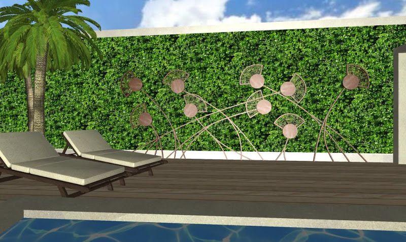 decoraciones fantasias para jardines de lujo - adornos en hierro ...