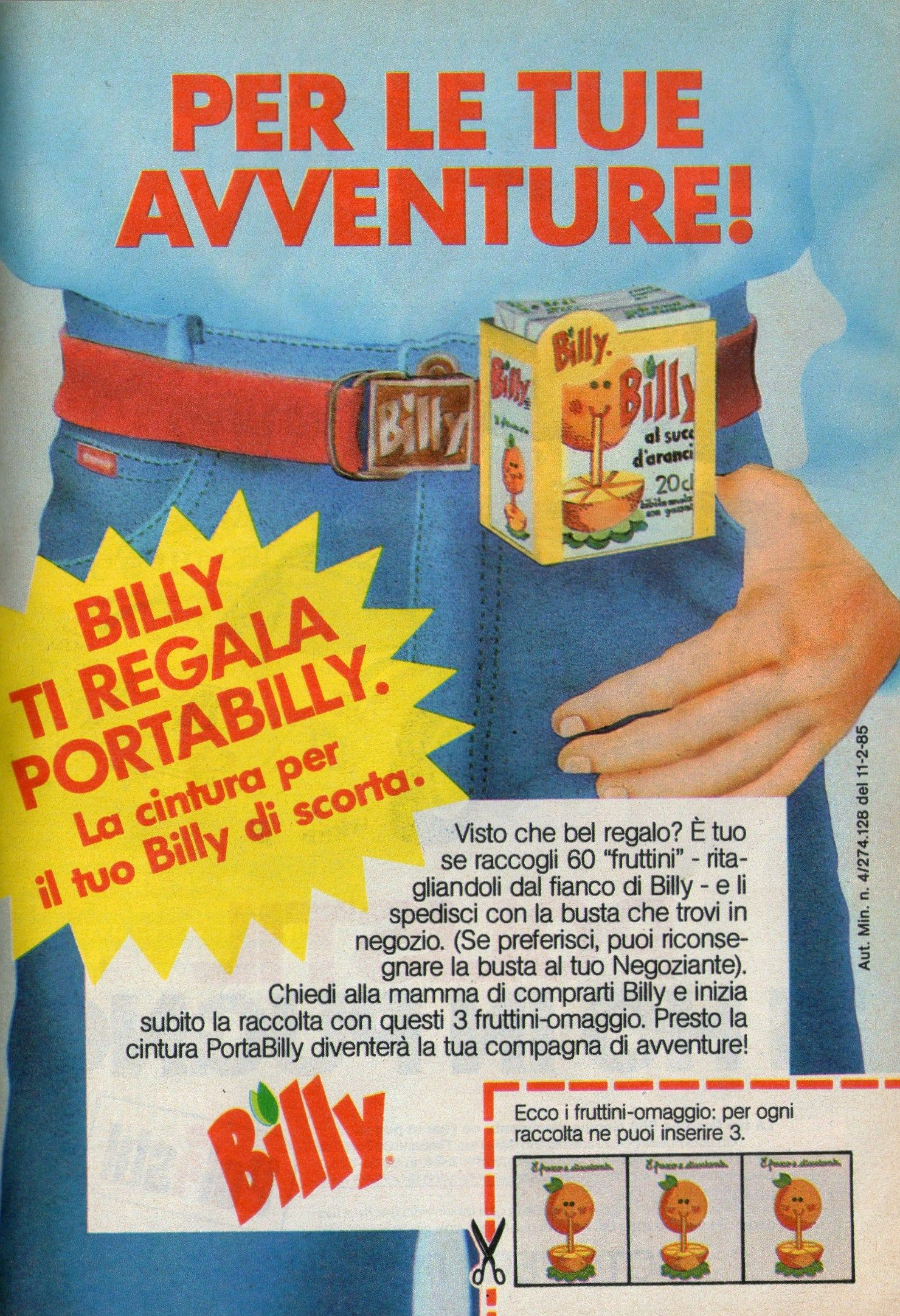 Billy vintage ad