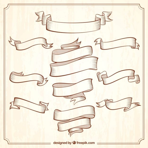 Collection Of Vintage Ornamental Ribbons Download Thousands Of Free Vectors On Freepik The Finder With M Vintage Ribbon Banner Banner Clip Art Banner Drawing