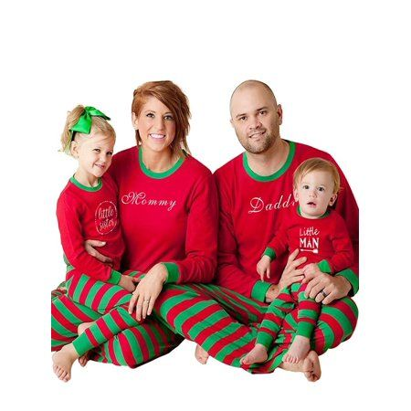 8904c37655 Ropalia Matching Family Pajamas Sets Christmas Children Adult Sleepwear  Outfit - Walmart.com