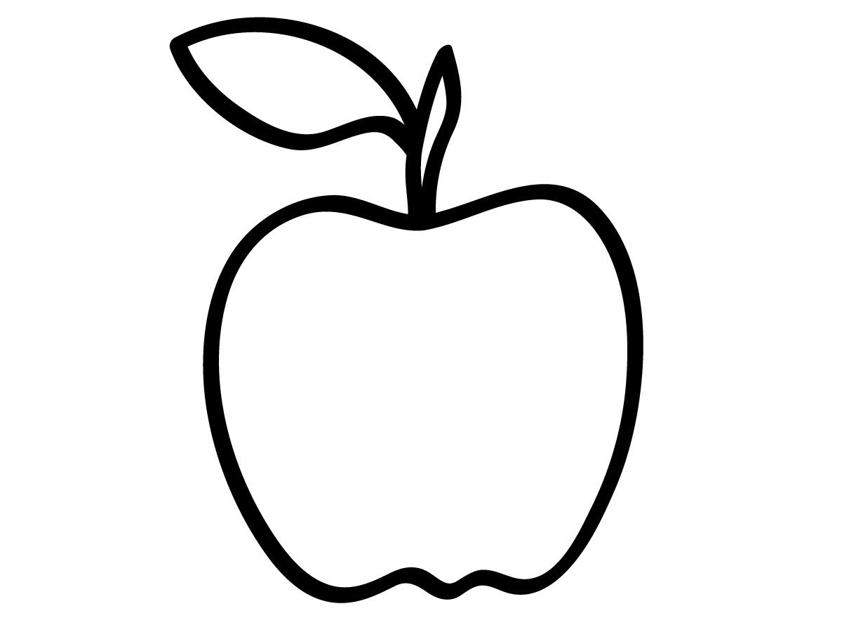 Free Apple Tracing Stencil Free Vintage Illustrations Preschool Coloring Pages Apple Coloring Pages Apple Outline