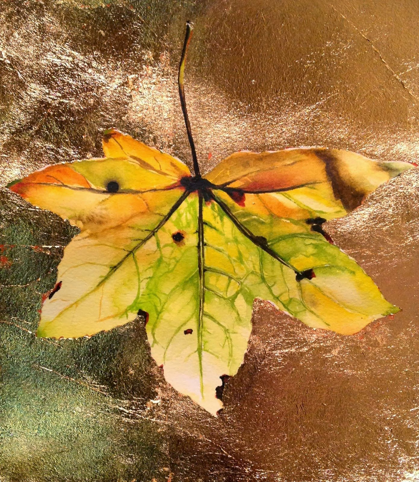 Carrie Waller Gold Leaf And Watercolor Tutorial Watercolour