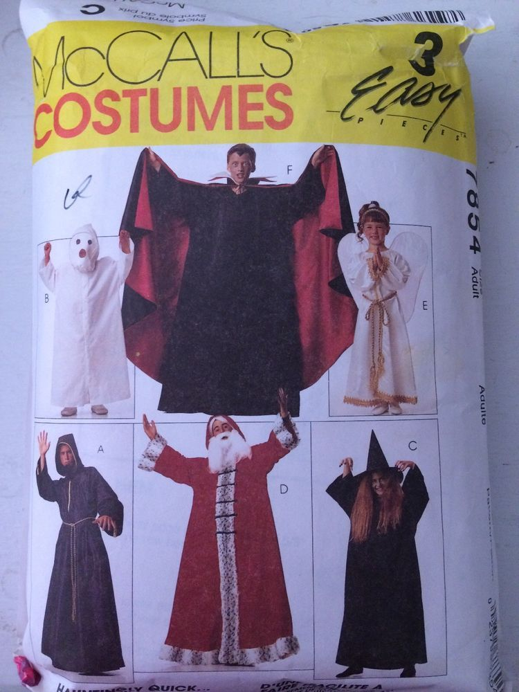 1995 Rare McCalls Adult Kids Wizard Witch Vampire Sewing Pattern ...