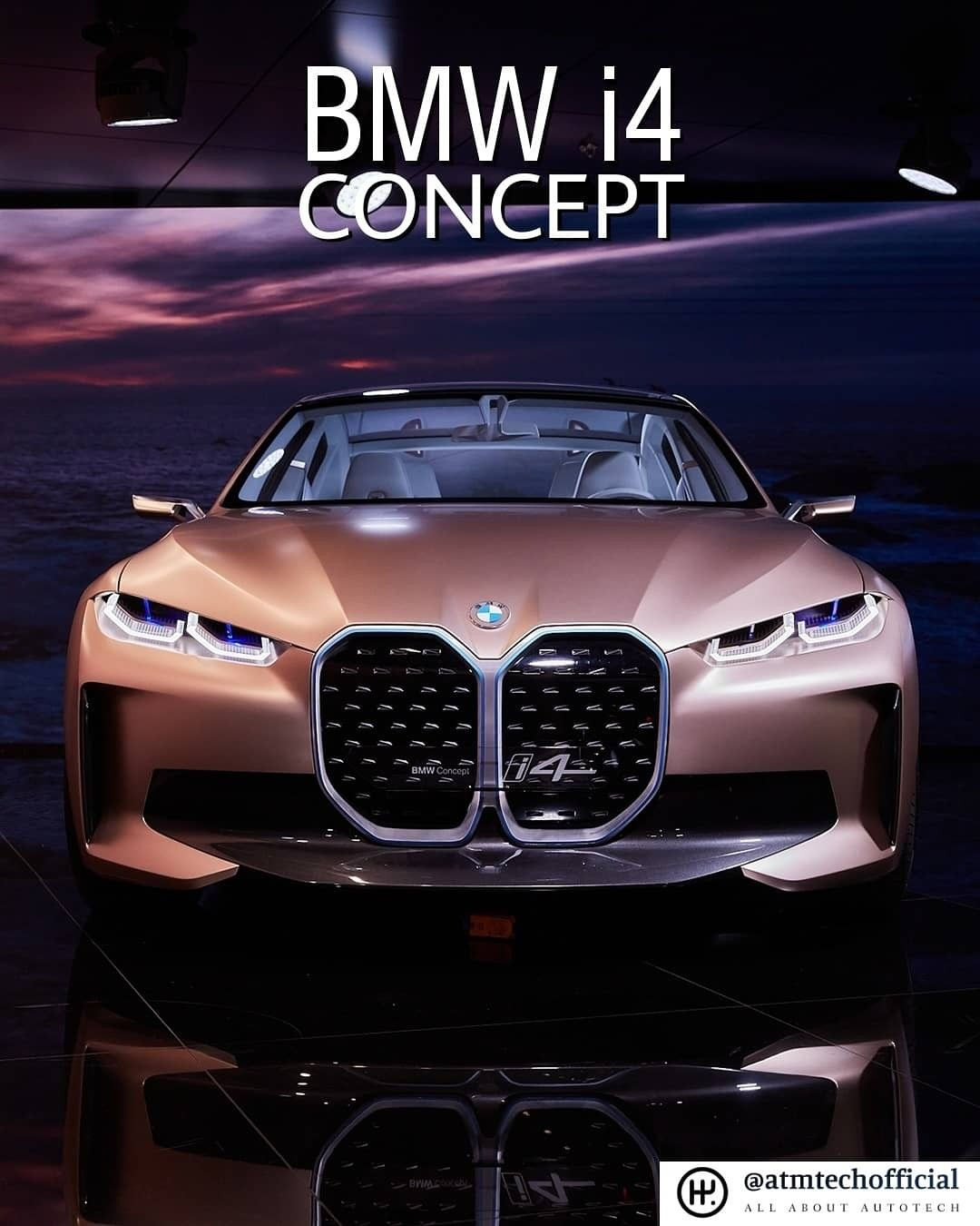The elegant design of BMW i4 concept is mesmerizing. Bmw has been one of the best in terms of design. The i4 concept was showcased in #AutoChina2020 . . #autochina #autoexpo #bmw #conceptcars #carsofinstagram #amazingcars247 #design #electriccar #allelectric #atmtechofficial #atmtechedits #automotivesandtechnology