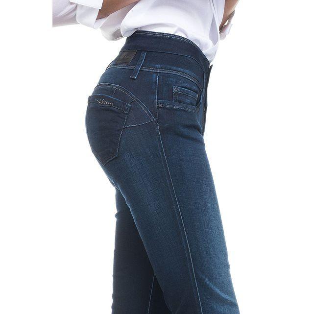 jeans wonder push up taille haute avec d tails swarovski. Black Bedroom Furniture Sets. Home Design Ideas