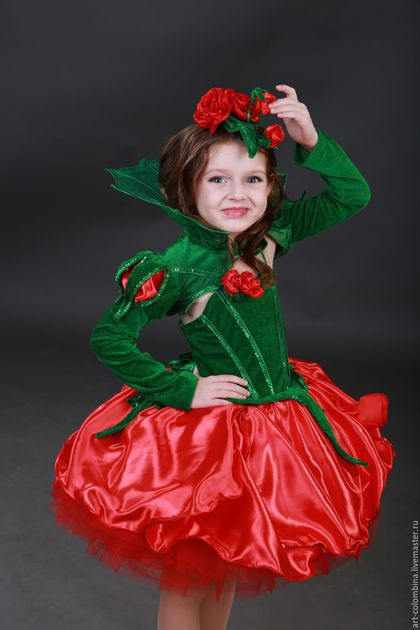 8c7c9a323dc25 Купить или заказать Костюм розы в интернет-магазине на Ярмарке Мастеров. Карнавальный  костюм розы для девочки комплектация: платье, болеро, шляпка размеры ...