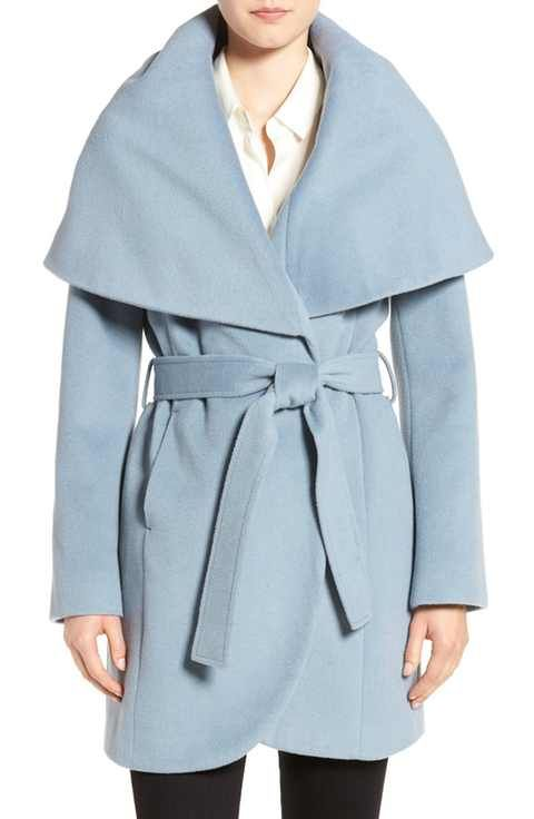 T Tahari Wool Blend Belted Wrap Coat | Women's Jackets & Coats ...