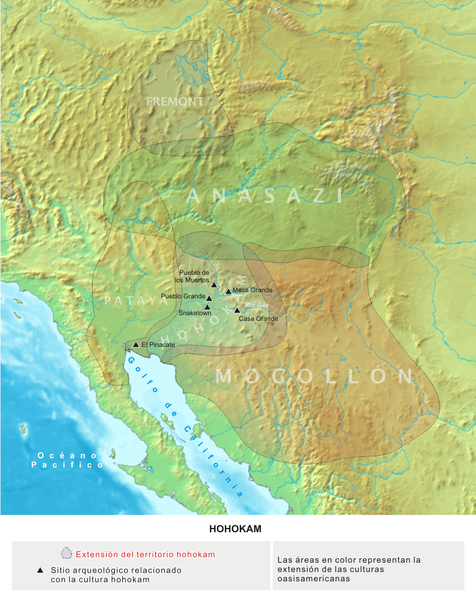 Oasisamerica Hohokam cultural areas in southwestern North