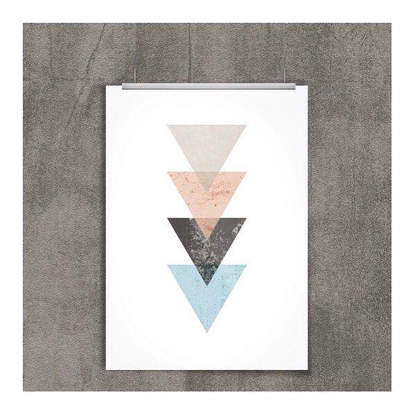 Dudi E Lariz Home Living Lifestyle Blog Est 2015 Poster Triangulos Poster Para Impressao