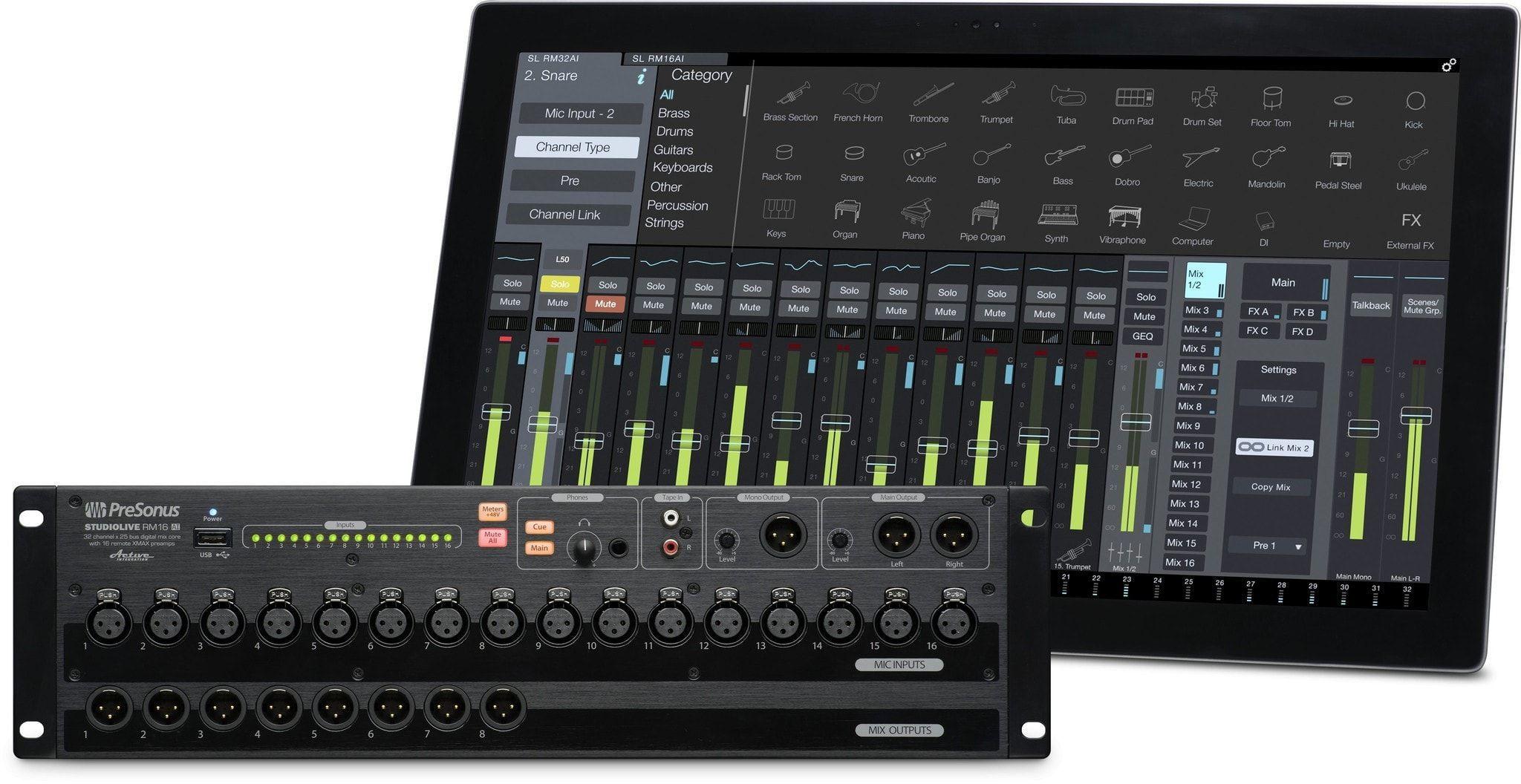 Presonus Studiolive Rm16ai 16 Channel Rack Mount Mixer Rack