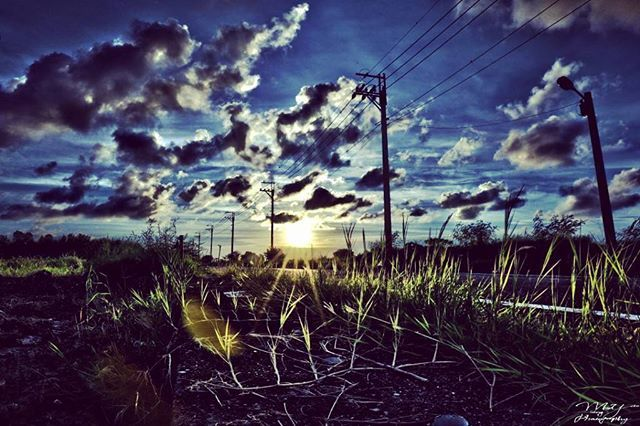 2016.06.25- The Sunset of Qigu District, Tainan City, Taiwan