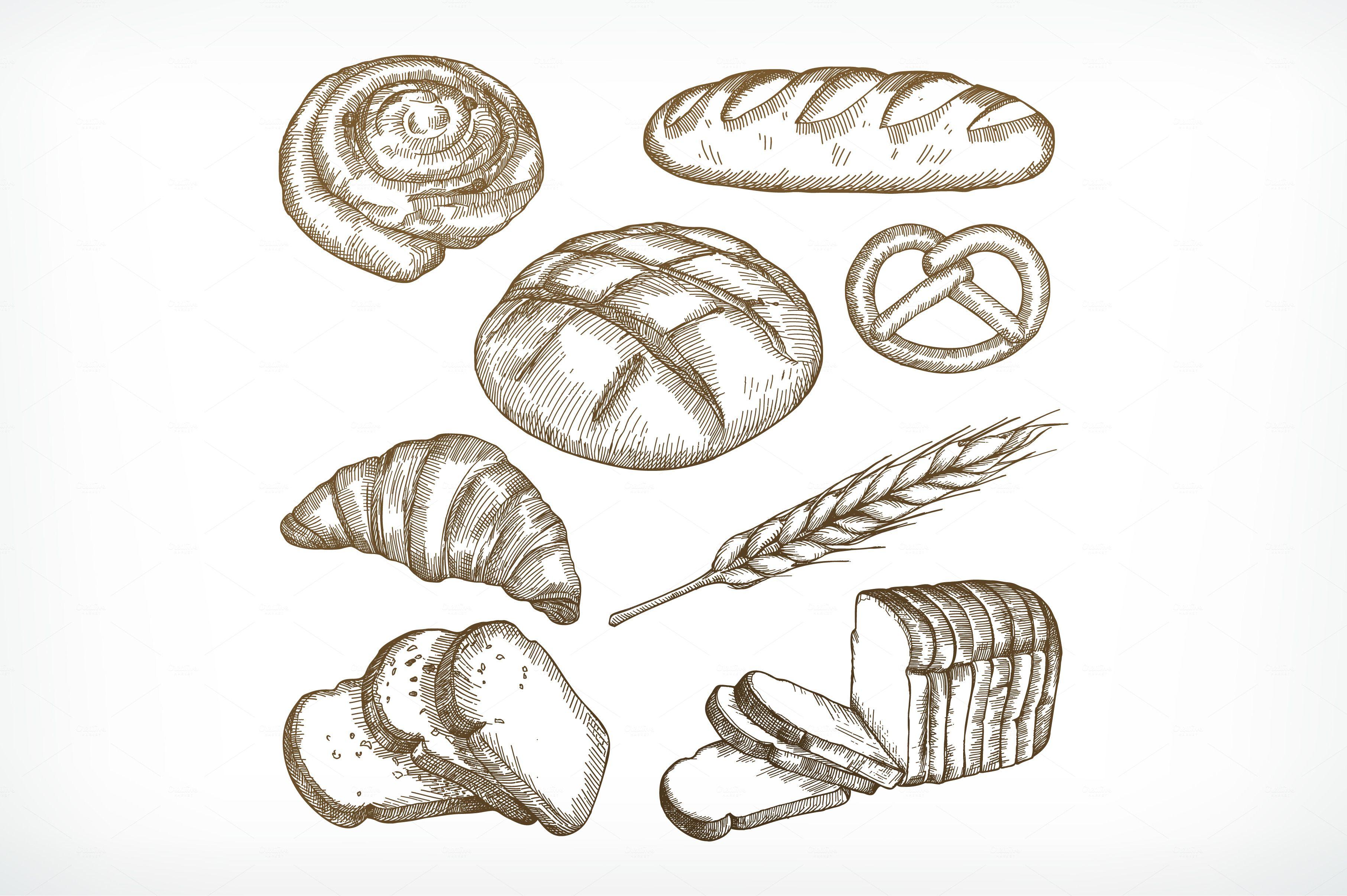 Картинки карандашом хлеб как нарисовать