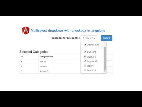 Multiselect dropdown with checkbox in angularjs | DotNet - awesome