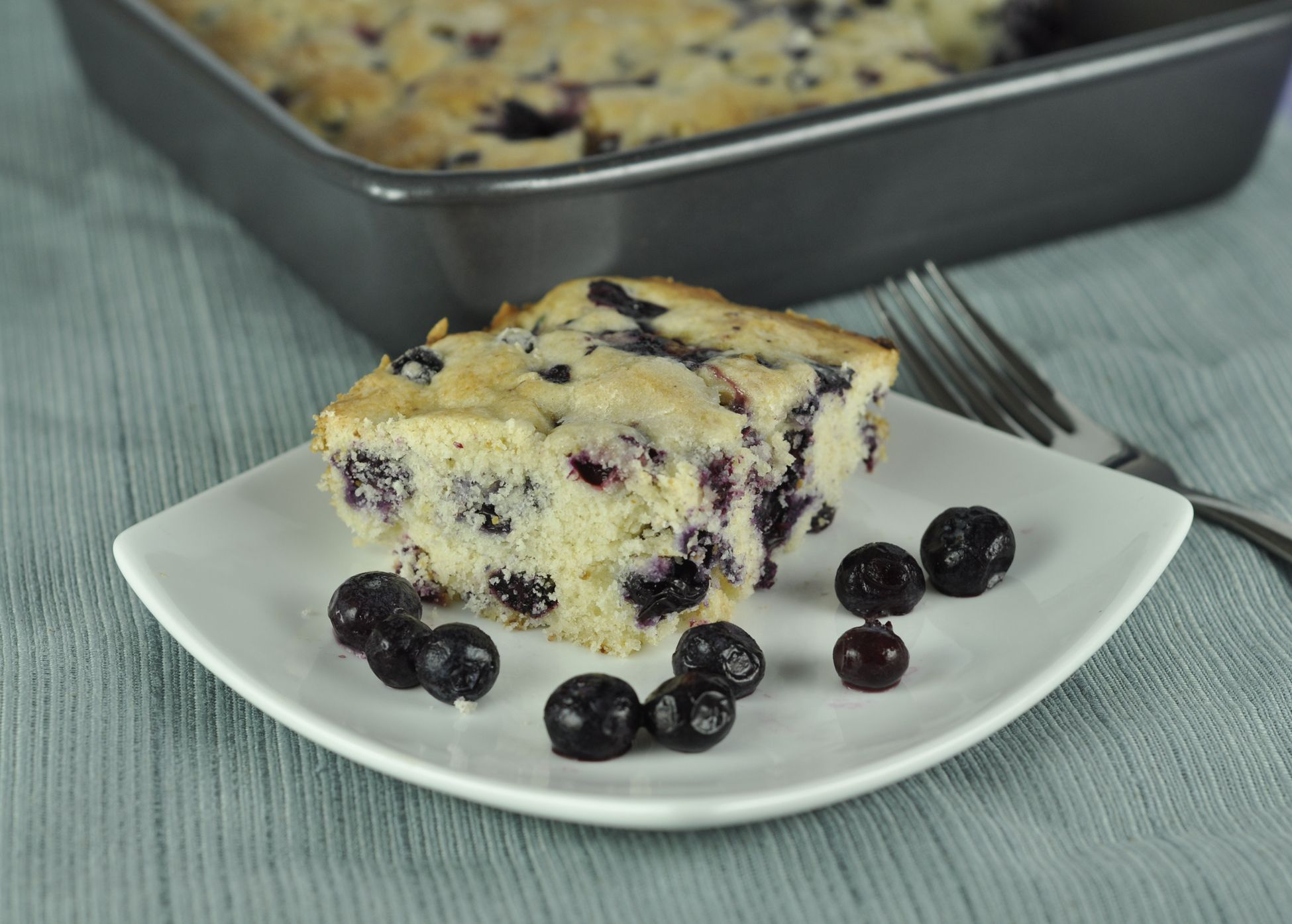 Buttermilk-Blueberry Breakfast Cake | Wishes and Dishes