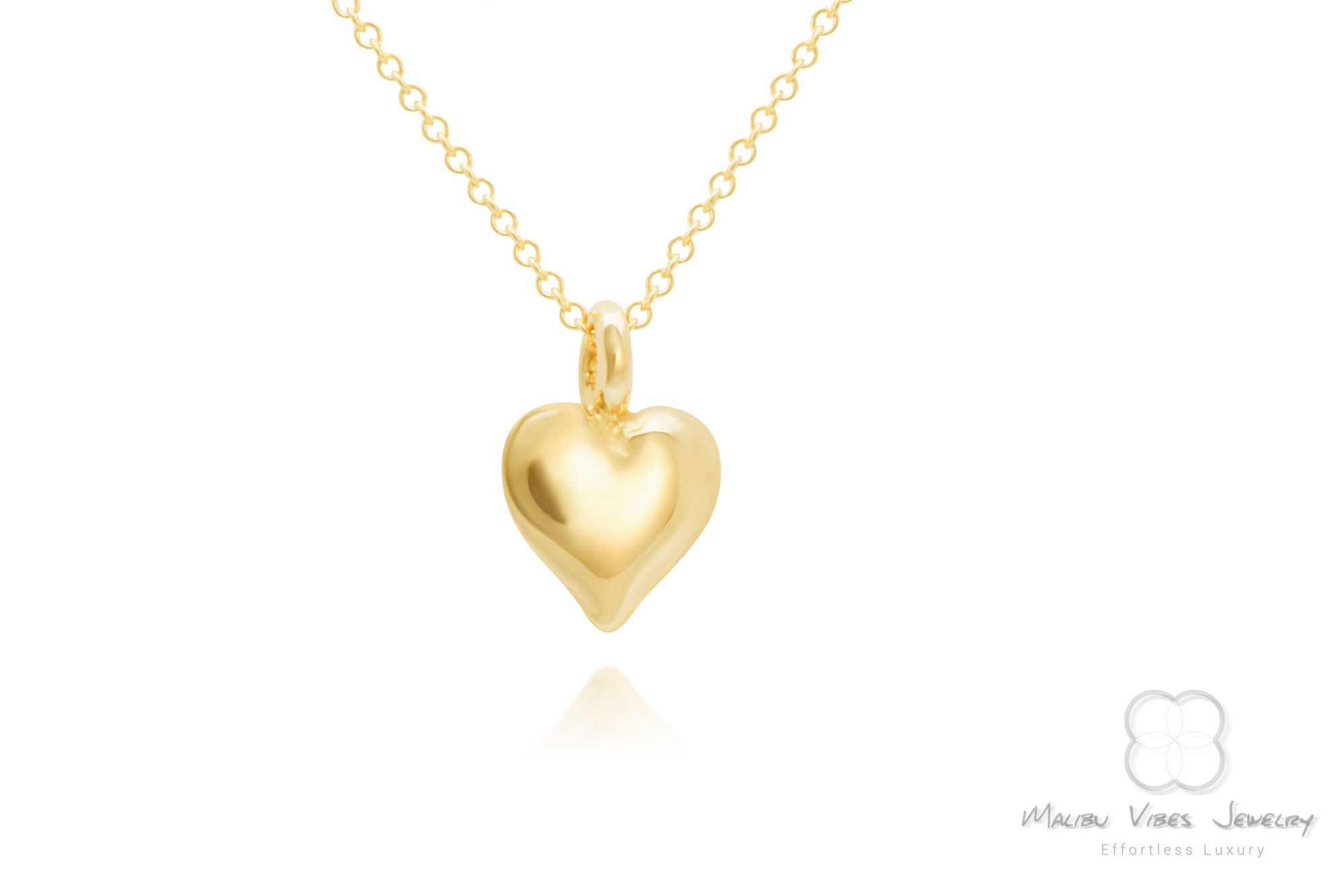 Photo of 14K Gold Dainty Heart Necklace, Solid Gold Dainty Jewelry, Choice of Gold Heart Pendant, Love Jewelry