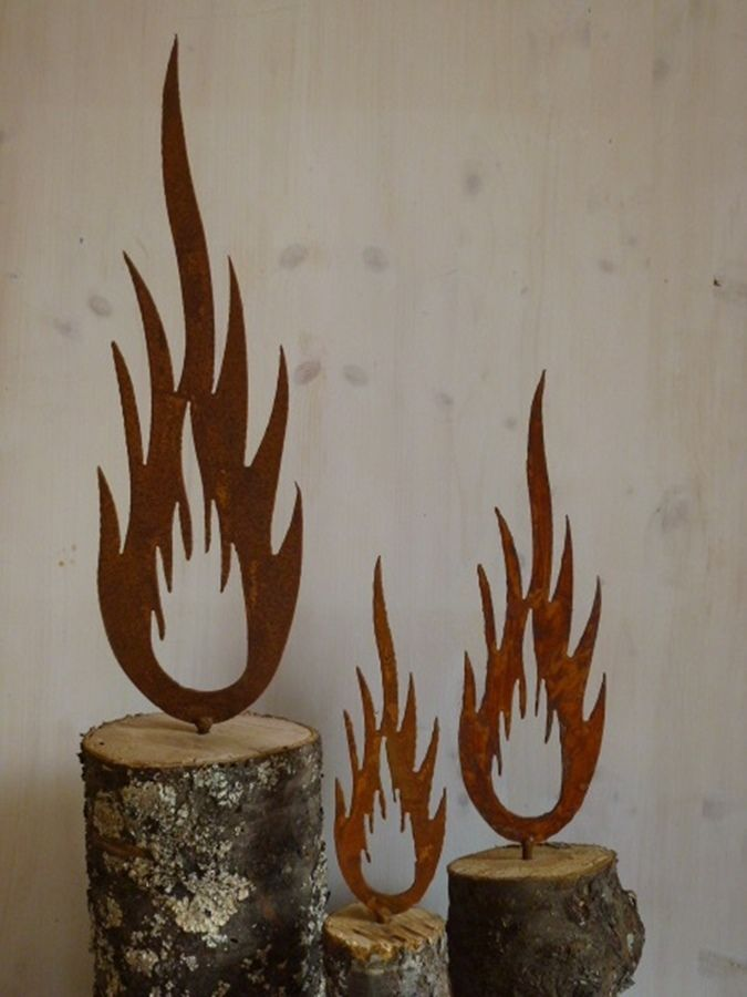 details zu rost flamme metall weihnachten garten dekoration, Garten Ideen