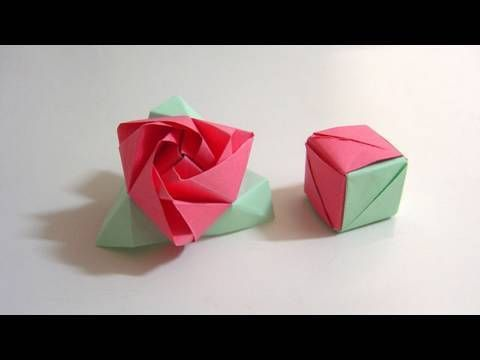 How to fold a magic rose cubea flower in a box origami puzzle origami de um cubo e uma rosa mgico httpsyoutube mightylinksfo Choice Image