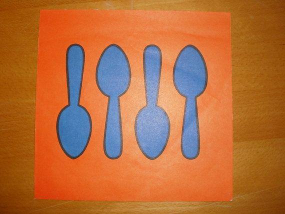 Dick Bruna 5 spoons illustration  Vintage by PurePopulus on Etsy, $10,00