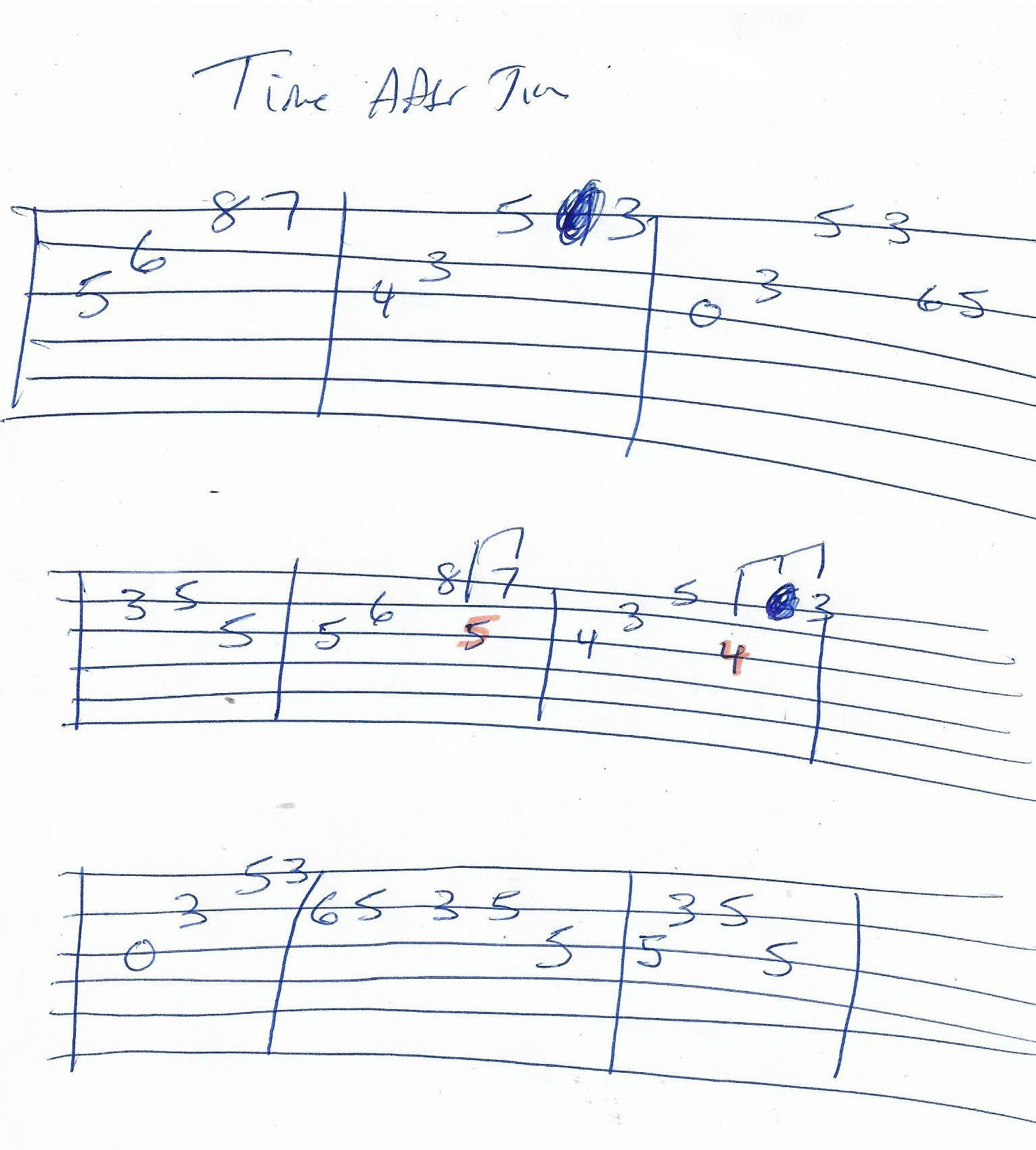 Time After Time Cindy Lauper Guitar Solo Tab Guitar Solo