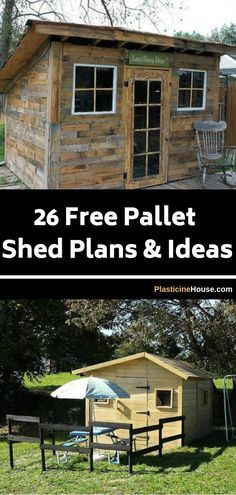 26 Free Pallet Shed, Barn, Cabin and Building Plans & Ideas