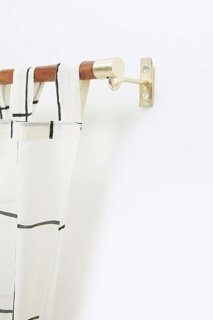 Mid Century Modern Wooden Curtain Rod Urban Outfitters Wooden Curtain Rods Curtains Uk Curtain Rods