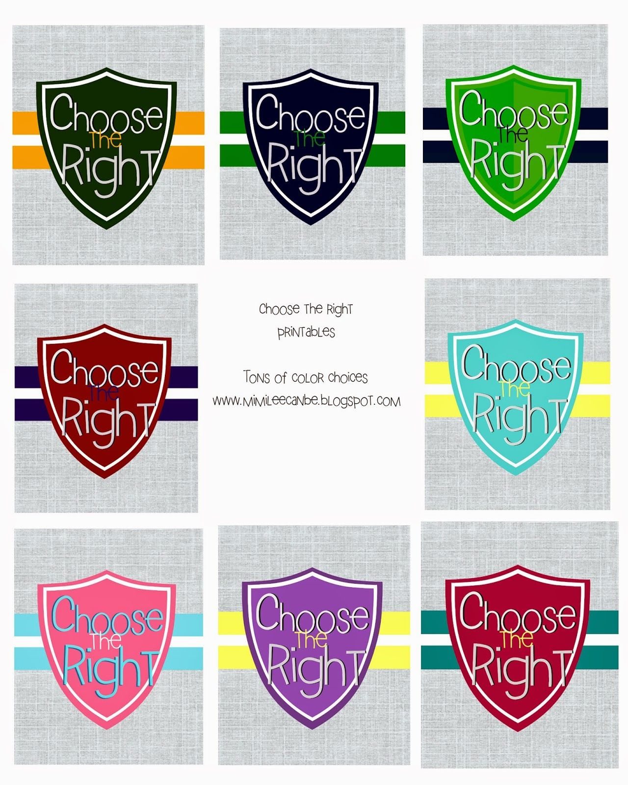 Choose The Right Printable!