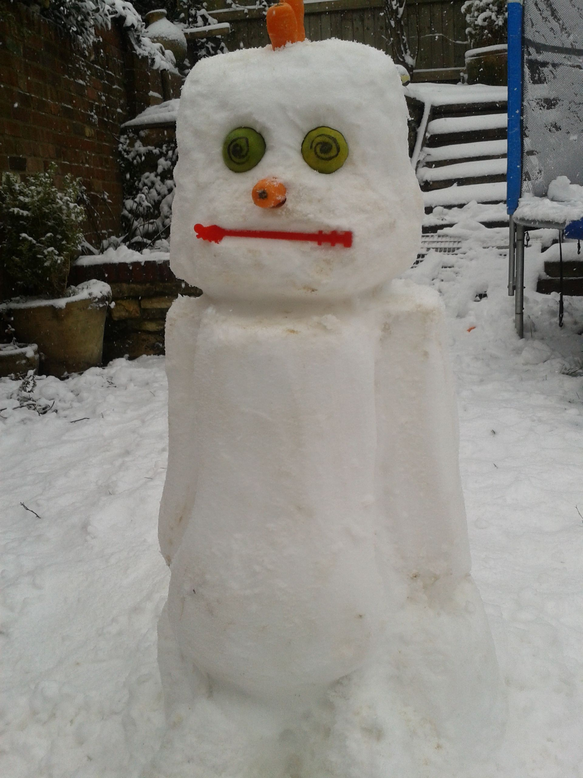 Husbands robot snowman.