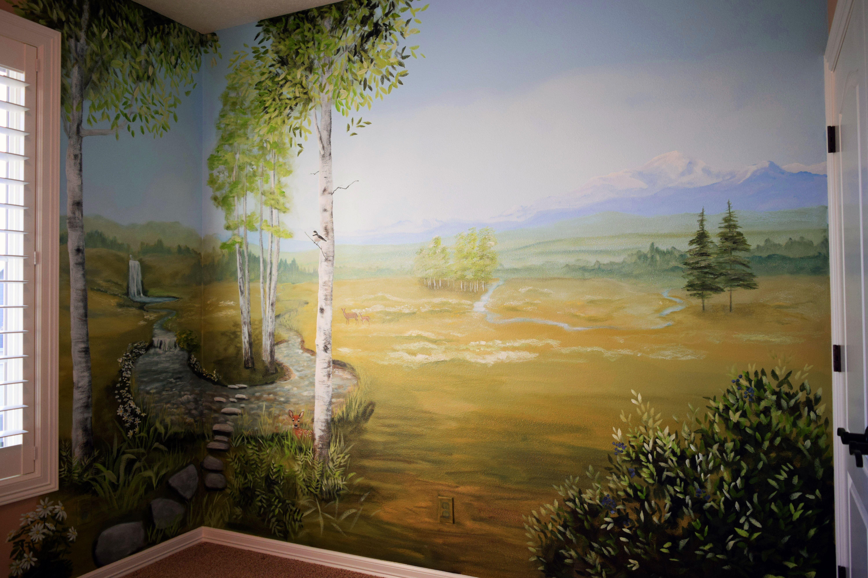 Nature Scene Bedroom Mural painted in Newberg, Oregon | My Murals ...