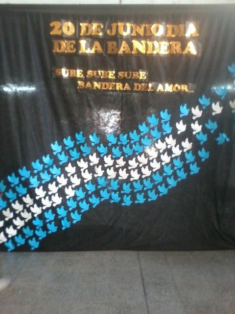 tel n dia de la bandera decoracion de clases pinterest On decoracion 9 de julio secundaria