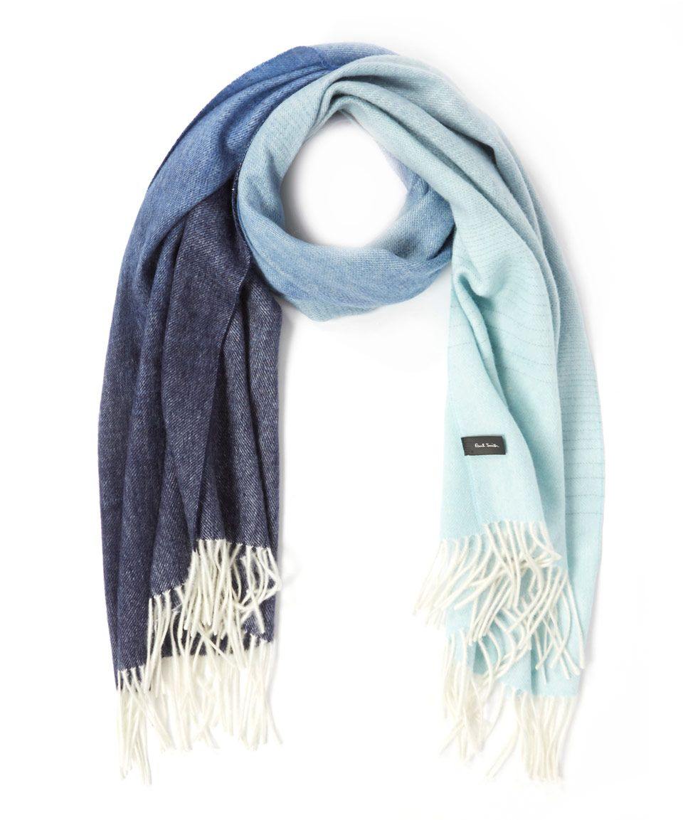 Paul Smith Blue Fading Wool and Cashmere-Blend Shawl | Accessories | Liberty.co.uk
