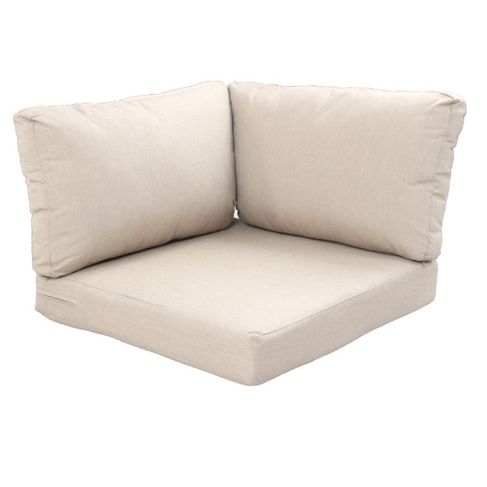 Hampton Bay Beverly Beige Replacement 3-Piece Outdoor Corner Chair ...