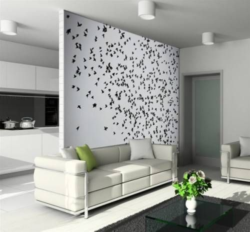 Wallpaper On An Accent Wall The Interior Design Inspiration Board Accent Walls In Living Room Living Room Wall Interior Wall Design
