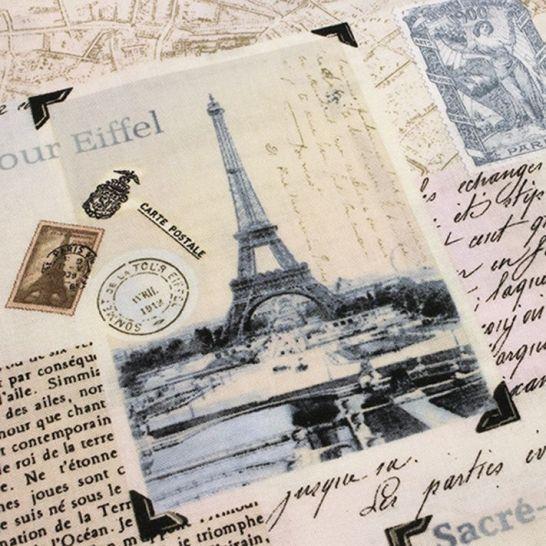 TELA PATCHWORK PARIS POSTAL. Ancho 110 cm.