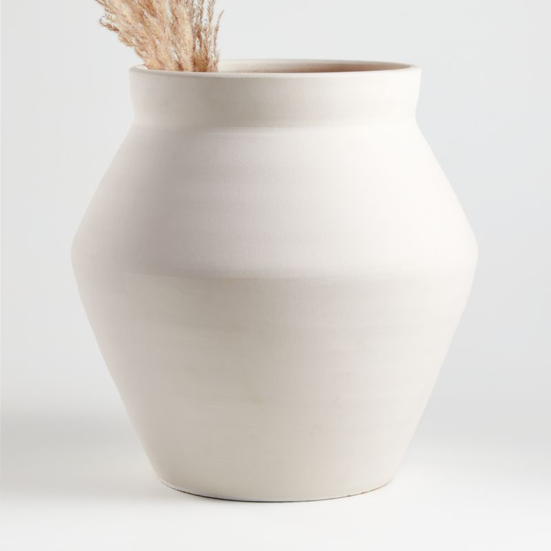 Shop White Wabi Floor Vase Soft Angles And A Modern Matte