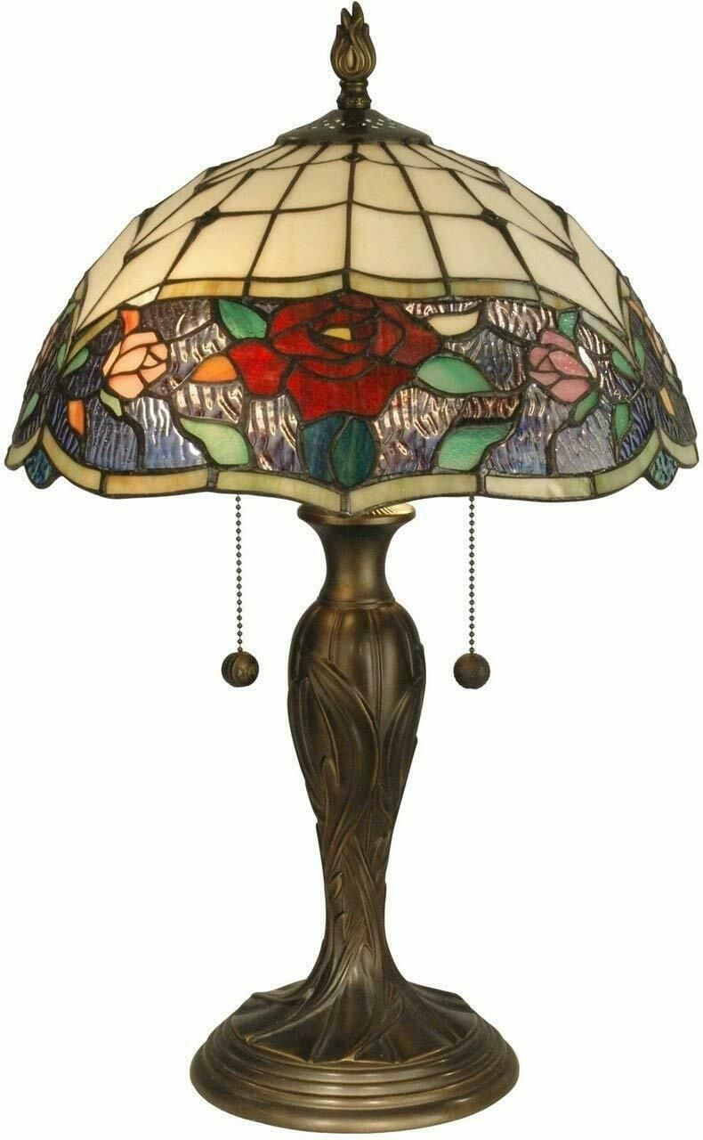 Dale Tiffany Tt10211 Malta Tiffany Table Lamp Antique Bronze