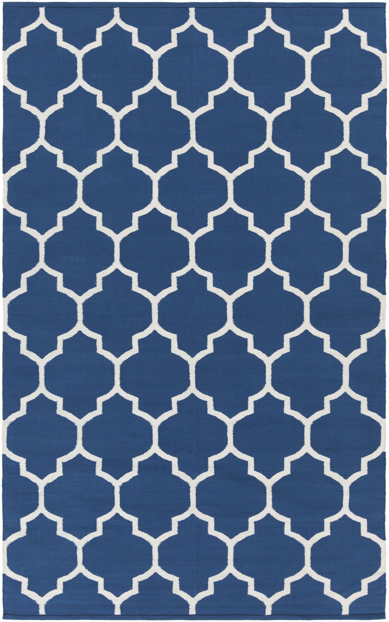 Good Vogue Blue Geometric Claire Area Rug