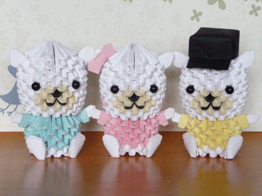 3D Origami: 15 cute creatures to make using modular paper ... | 675x900