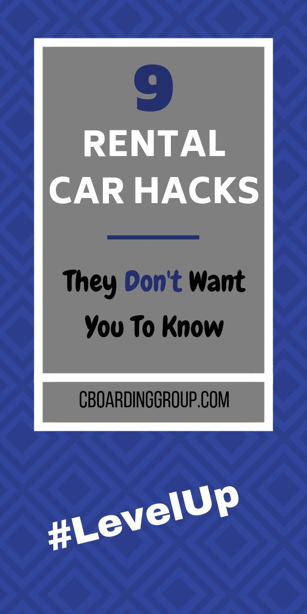 9 Secret Rental Car Hacks You Need To Know [Updated For