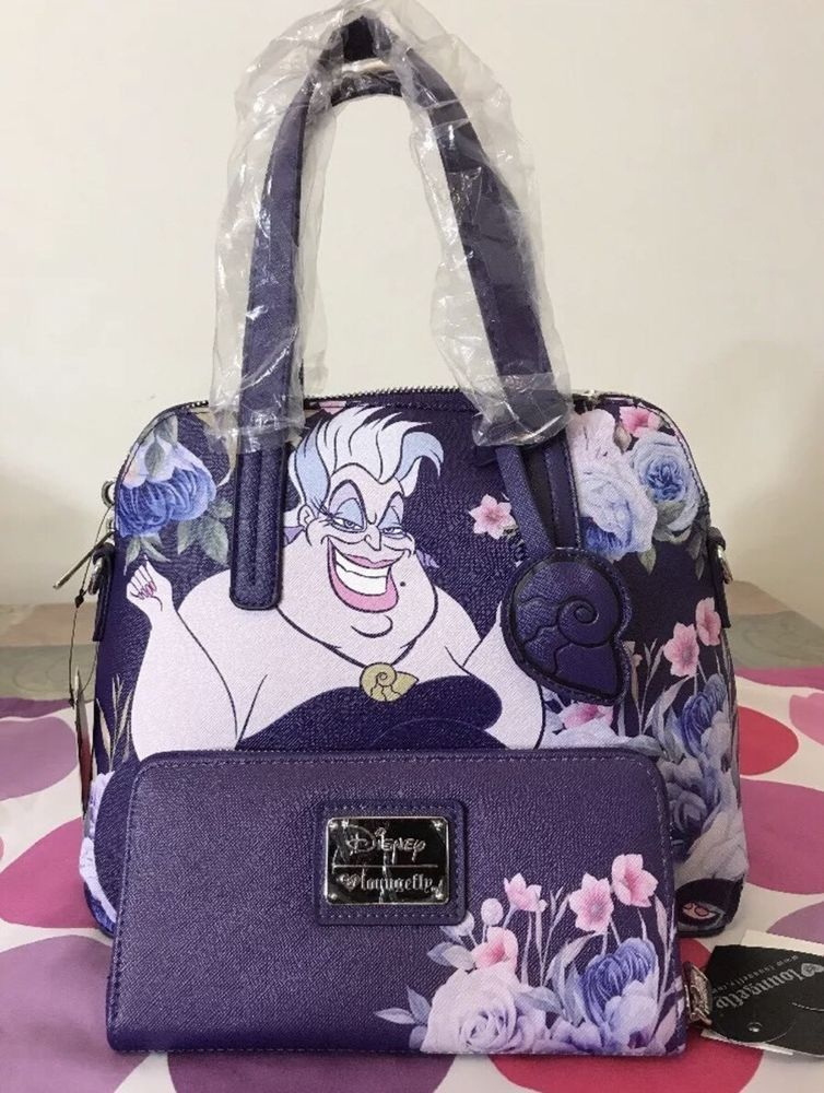 Loungefly Disney Ursula Little Mermaid Handbag Purse Crossbody Bag   Wallet  Set ef57ceeff48da