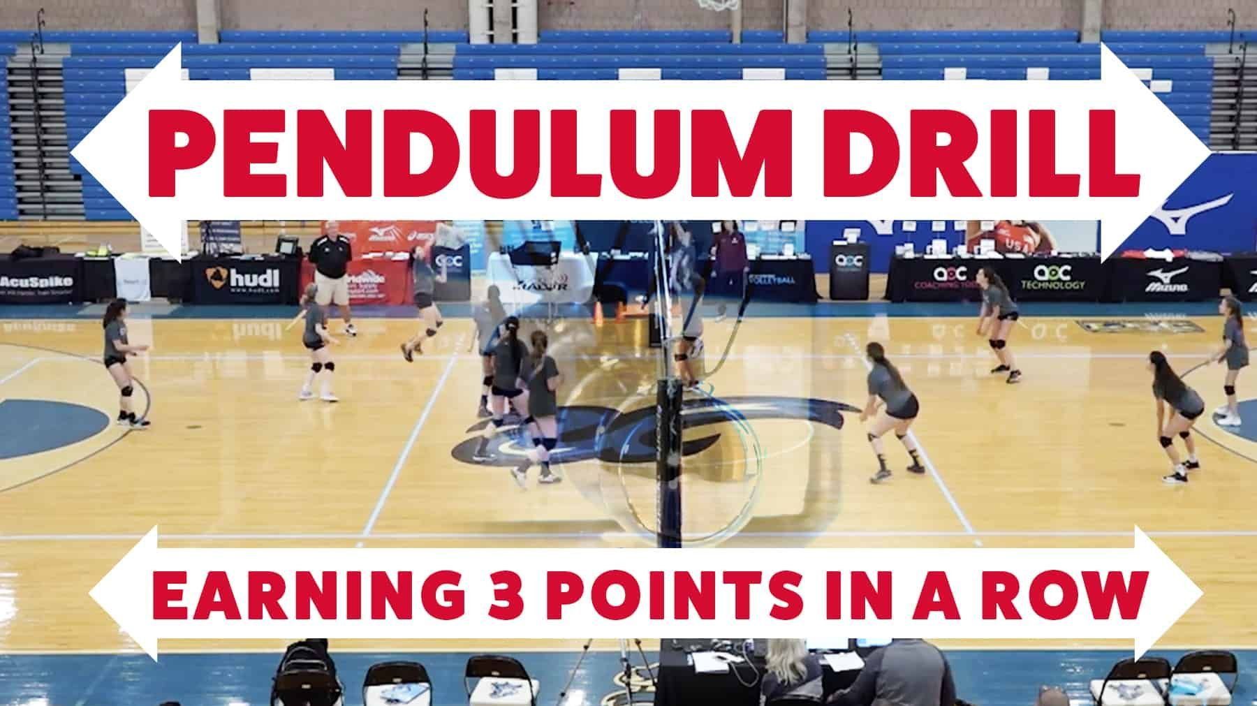Pendulum Drill Earning 3 Points In A Row Volleyball Volleyball Tryouts Volleyball Practice